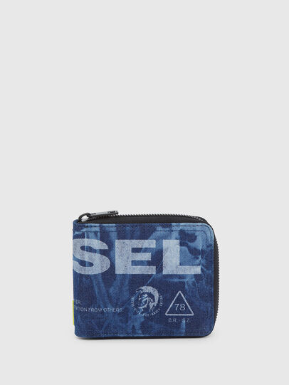 Diesel - ZIPPY HIRESH S, Blue - Zip-Round Wallets - Image 1
