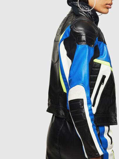 Diesel - ASTARS-LQUATTRO, Black - Leather jackets - Image 3