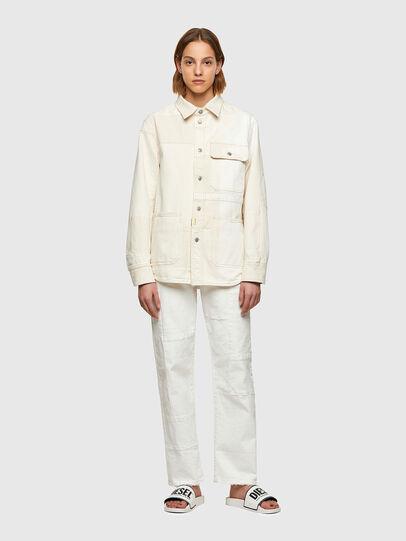 Diesel - D-HORUS-SP, White - Denim Shirts - Image 8