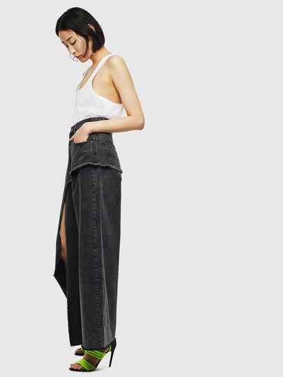 Diesel - D-Izzier 0KAXA, Black/Dark grey - Jeans - Image 4