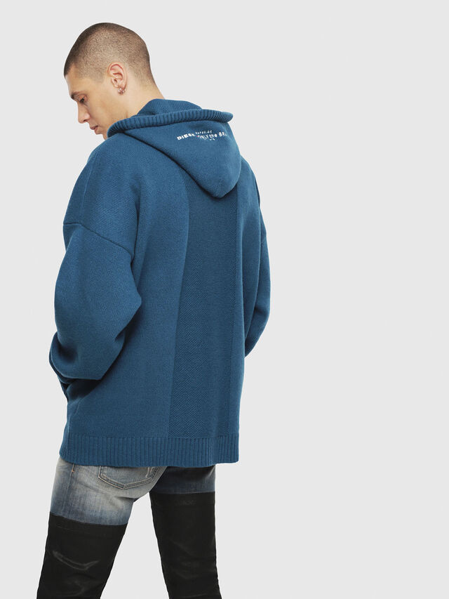 Diesel - K-NONAME, Dark Blue - Knitwear - Image 2
