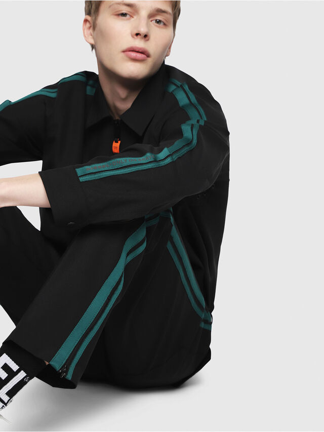 Diesel - P-ARK, Black/Green - Pants - Image 3