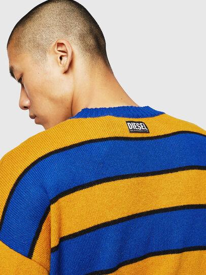 Diesel - K-LOVERY, Blue/Yellow - Knitwear - Image 3