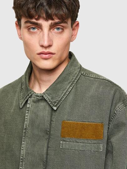 Diesel - J-GEORG, Olive Green - Jackets - Image 4