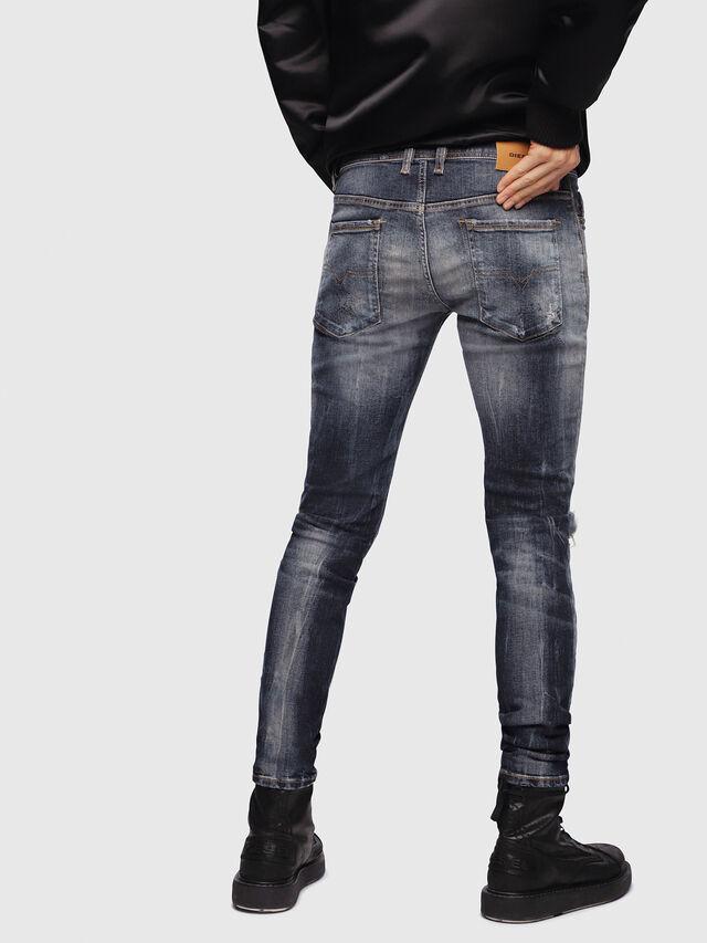 Diesel - Sleenker 069DJ, Dark Blue - Jeans - Image 2