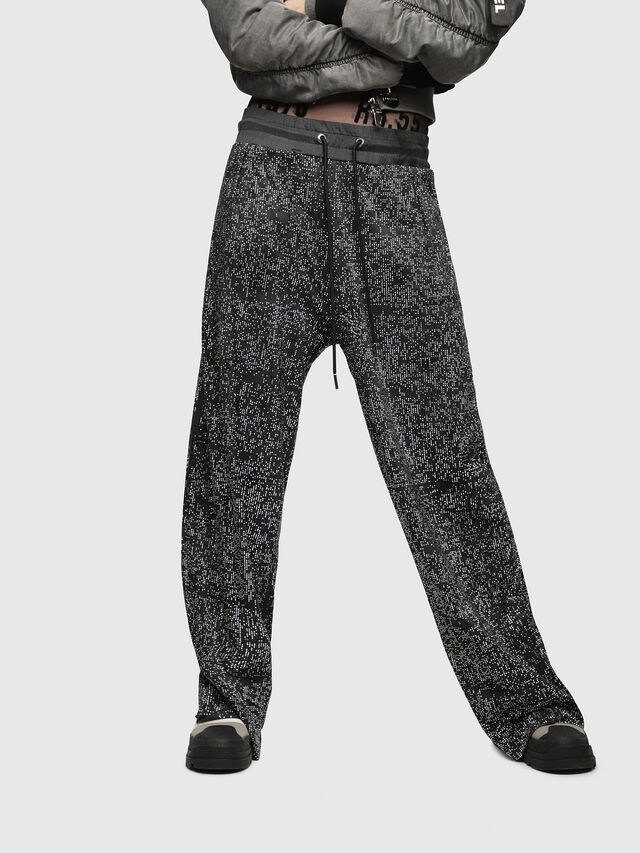 Diesel - P-STRASS, Black/Grey - Pants - Image 1