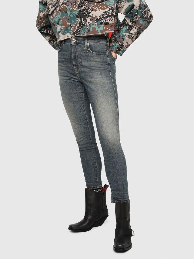 Diesel - Babhila High 086AU, Medium blue - Jeans - Image 1