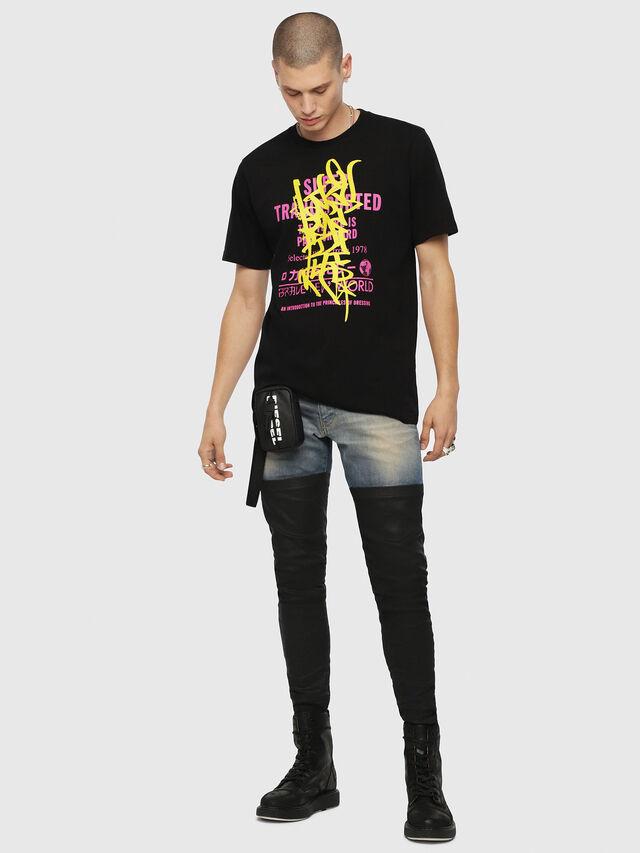 Diesel - T-JUST-YD, Black - T-Shirts - Image 4