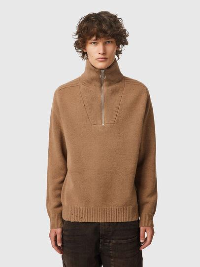 Diesel - K-FREMONT, Light Brown - Knitwear - Image 1
