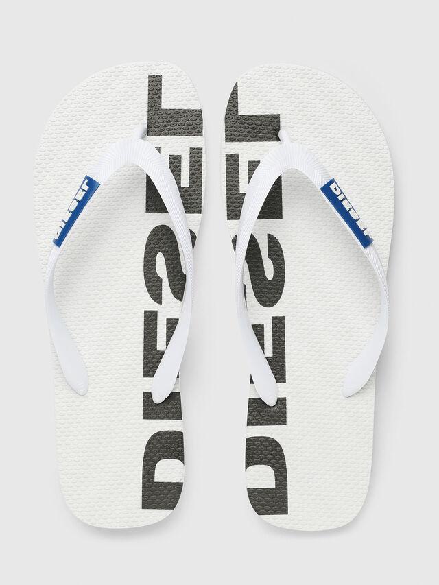 Diesel - SA-BRIIAN, White/Black - Slippers - Image 2