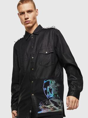D-FILLY, Black/Dark grey - Denim Shirts
