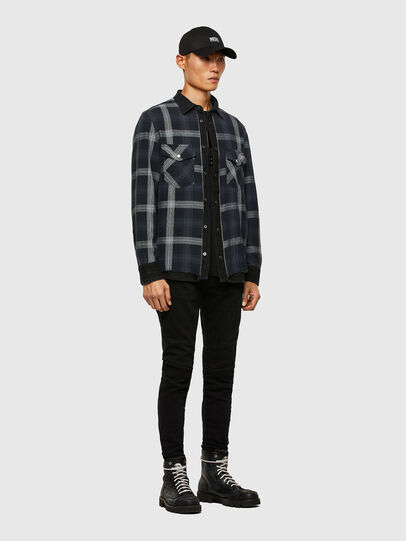Diesel - D-WEAR-B1, Black - Denim Shirts - Image 6