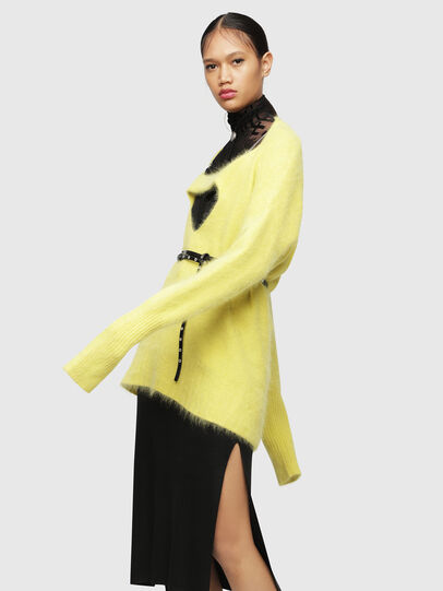 Diesel - M-GIORGIA, Yellow Fluo - Knitwear - Image 4