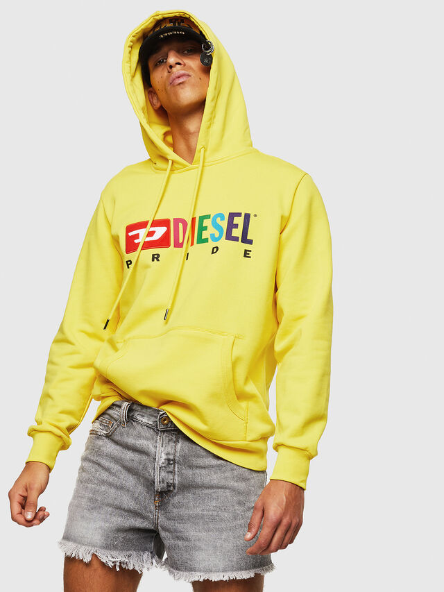 Diesel - S-GIR-HOOD, Yellow - Sweaters - Image 4