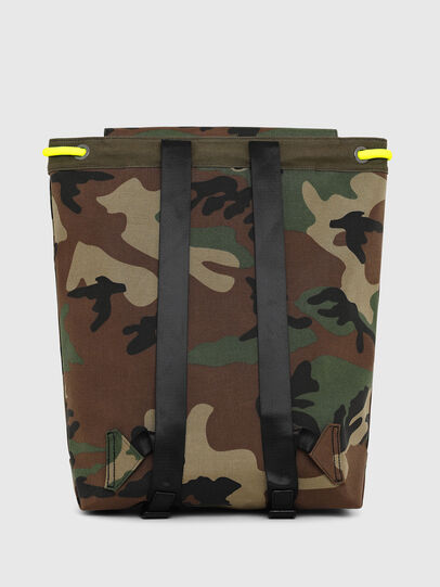 Diesel - VOLPAGO BACK, Green Camouflage - Backpacks - Image 2