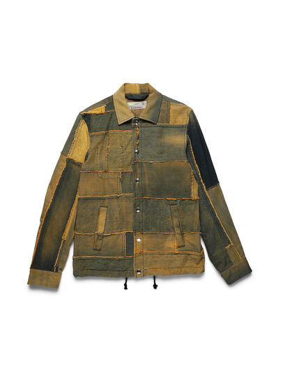Diesel - D-COACINQUE5, Yellow - Denim Jackets - Image 1