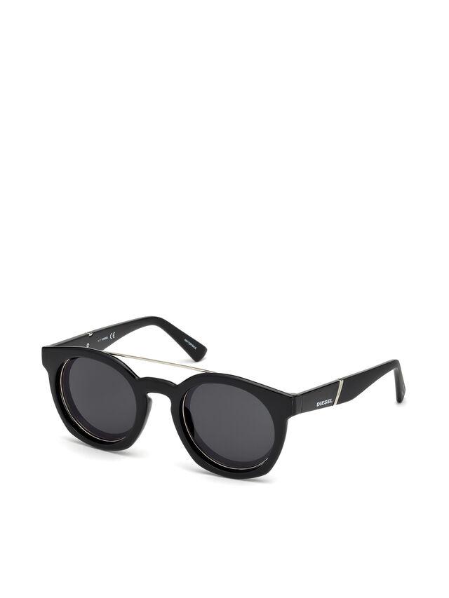Diesel - DL0251, Bright Black - Sunglasses - Image 4