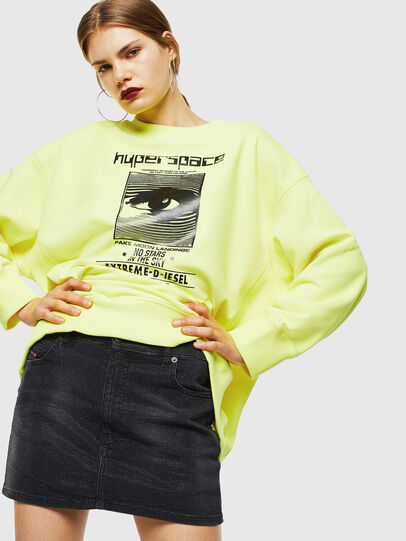 Diesel - F-AKUA, Yellow Fluo - Sweaters - Image 4
