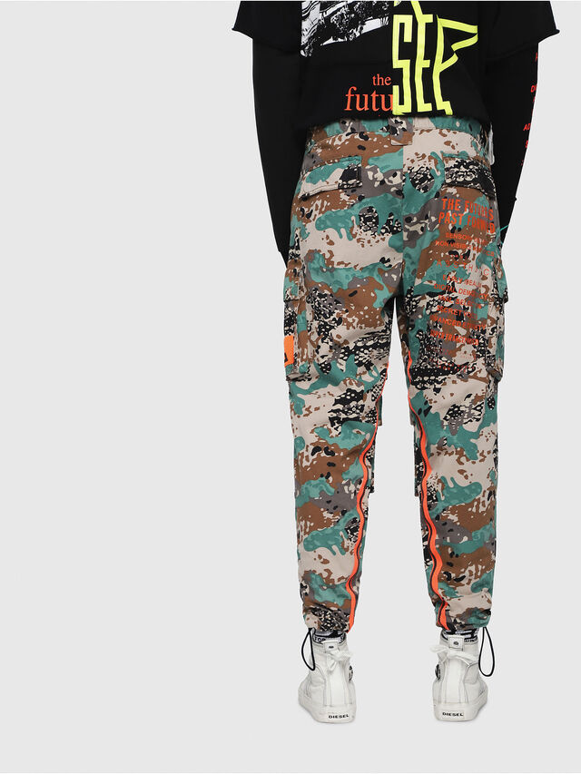 Diesel - P-LUZA-CAMOU, Green Camouflage - Pants - Image 2
