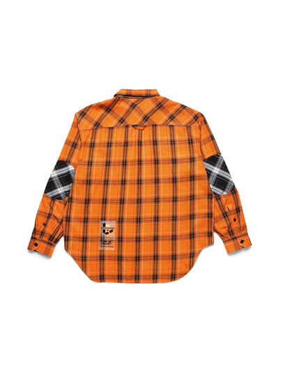 Diesel - D-ANORACHECK, Orange - Shirts - Image 2