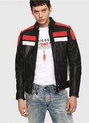 L-YUJA, Black/Red - Leather jackets
