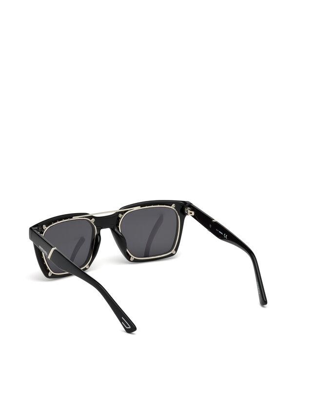 Diesel DL0250, Bright Black - Eyewear - Image 3