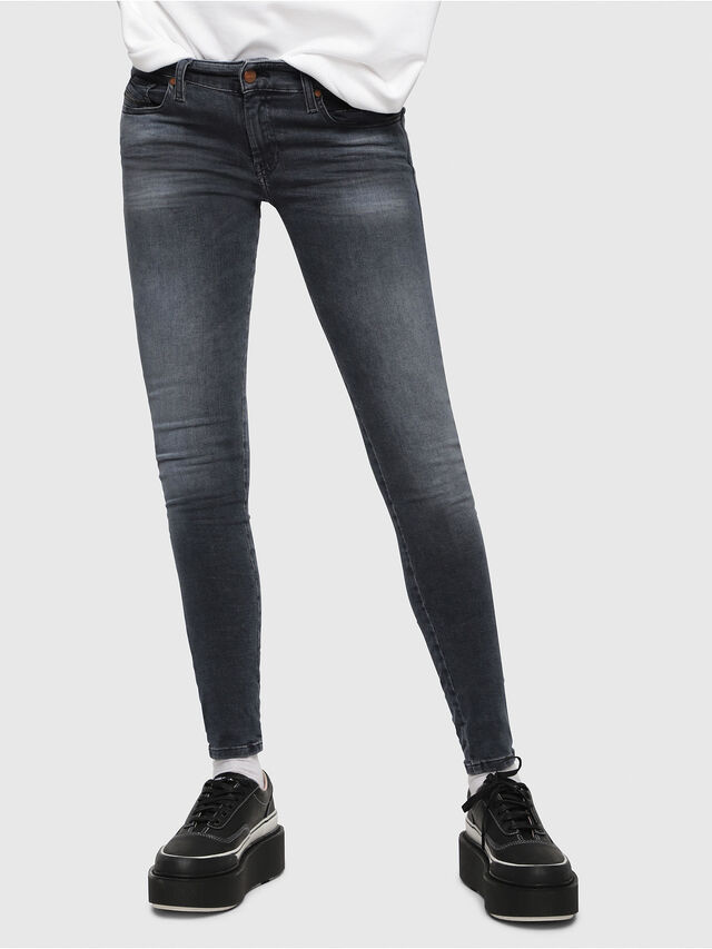 Diesel - Slandy Low 069BT, Dark Blue - Jeans - Image 1