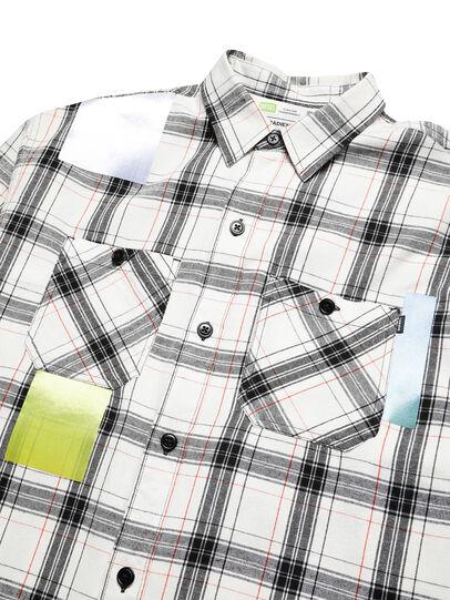 Diesel - D-GRADIENTCHECK, White/Black - Shirts - Image 3