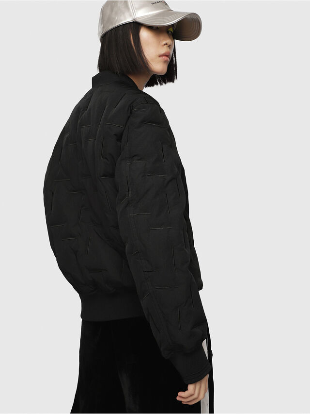 Diesel - W-TANAKA-FL, Black - Winter Jackets - Image 3