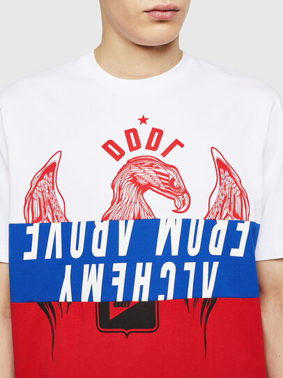 Diesel - T-JUST-A1, White/Red/Blu - T-Shirts - Image 3