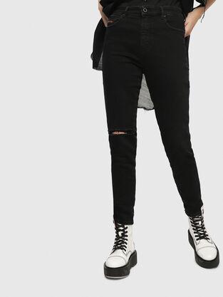 Babhila High 084ZN, Black/Dark grey - Jeans