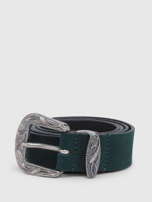 Diesel - B-CALTO, Dark Green - Belts - Image 1