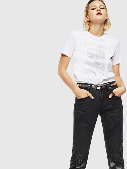 Diesel - T-SILY-YB, White - T-Shirts - Image 5