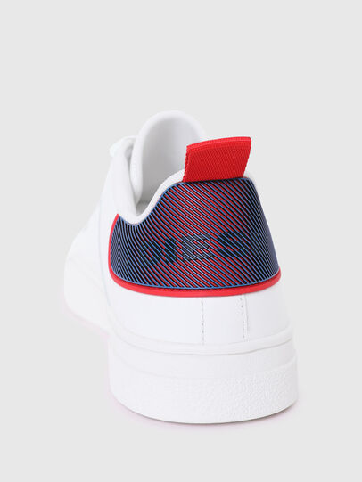 Diesel - S-CLEVER LOW LACE, White/Red - Sneakers - Image 4