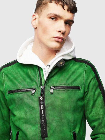 Diesel - L-BOY-A, Green - Leather jackets - Image 5