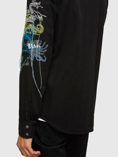 Diesel - D-EAST-P1-SP, Black - Denim Shirts - Image 4