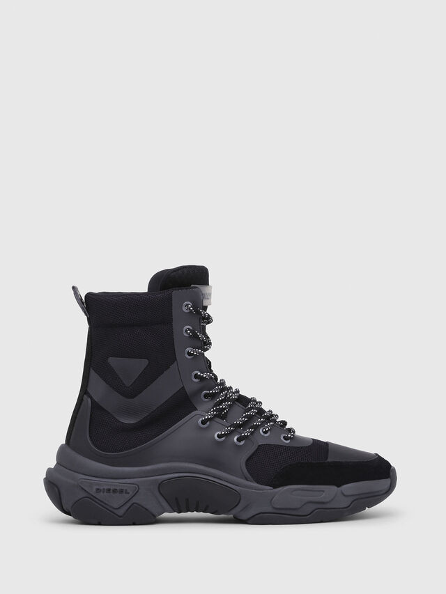 Diesel - S-KIPPER MID LACE, Black - Sneakers - Image 1