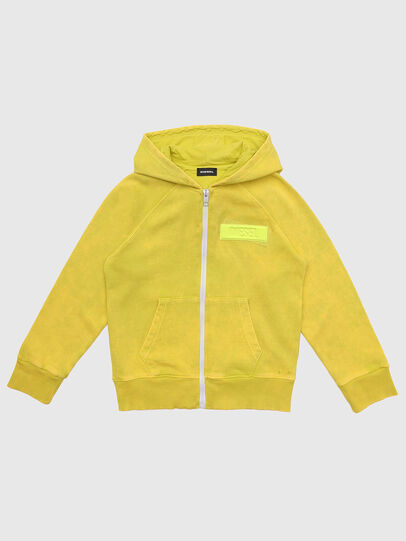 Diesel - SGIMHOODZIP, Yellow - Sweaters - Image 1
