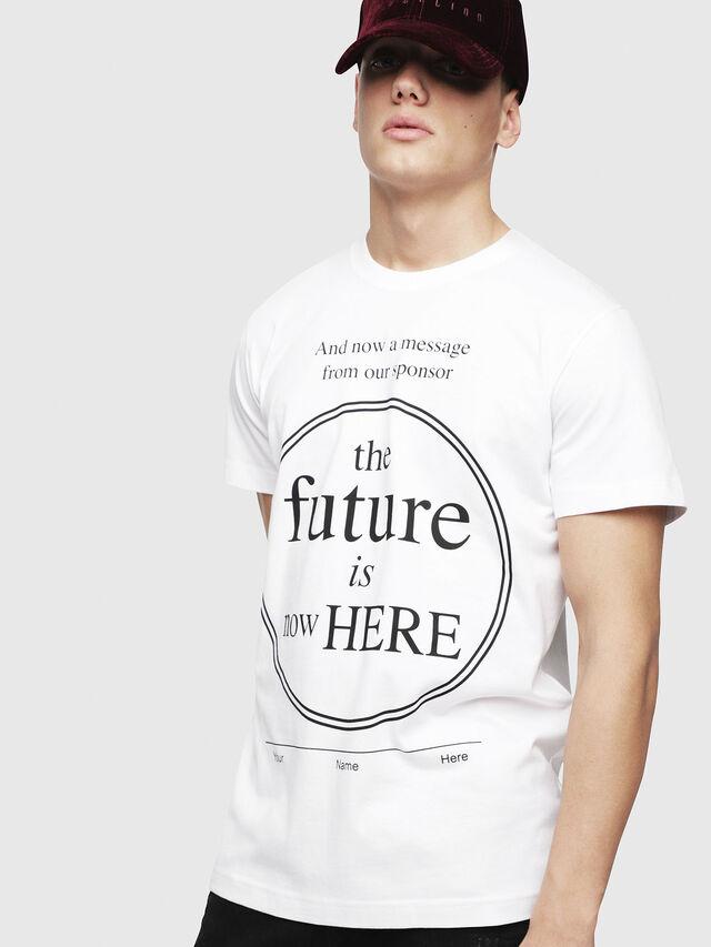Diesel - T-DIEGO-YD, White - T-Shirts - Image 3