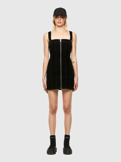 Diesel - D-VOLCANO-SP JOGGJEANS, Black/Dark grey - Dresses - Image 1
