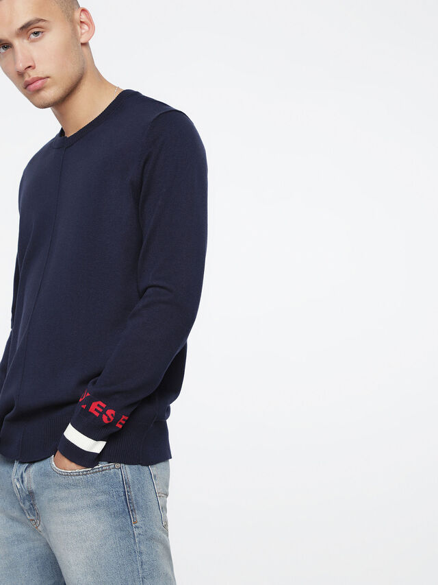 Diesel K-TOP, Blue - Knitwear - Image 3