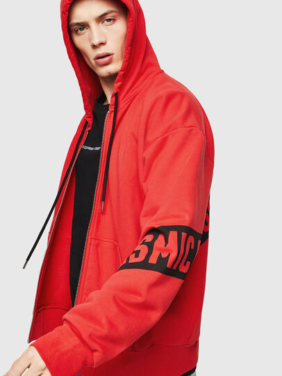 Diesel - S-ALBY-ZIP-A1, Fire Red - Sweaters - Image 4