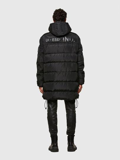 Diesel - W-RUSSELL-LONG, Black - Winter Jackets - Image 2