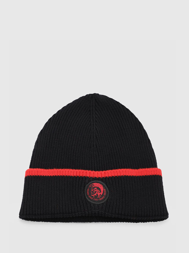 Diesel - DVL-BANY-CAPSULE, Black/Red - Knit caps - Image 1