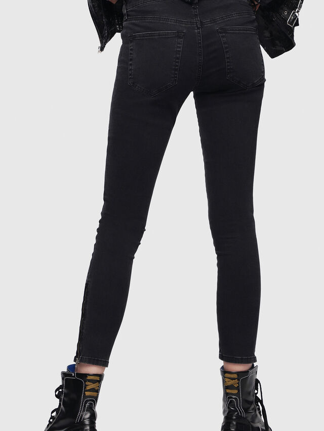 Diesel - Slandy Zip 0680I, Black/Dark grey - Jeans - Image 2