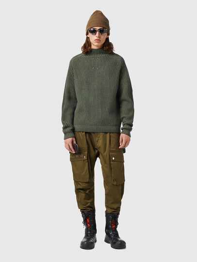 Diesel - K-CLEVELAND, Military Green - Knitwear - Image 4