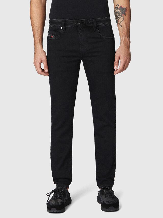 Diesel Thommer JoggJeans 0687Z, Black/Dark grey - Jeans - Image 1