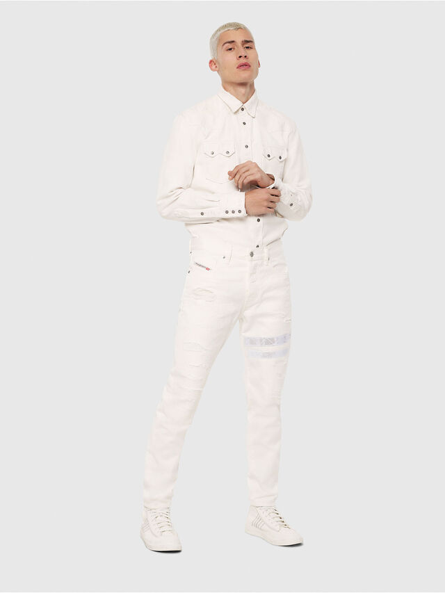 Diesel - Mharky 069EC, White - Jeans - Image 4