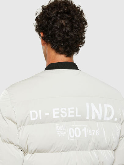 Diesel - W-ON-A, White - Winter Jackets - Image 4