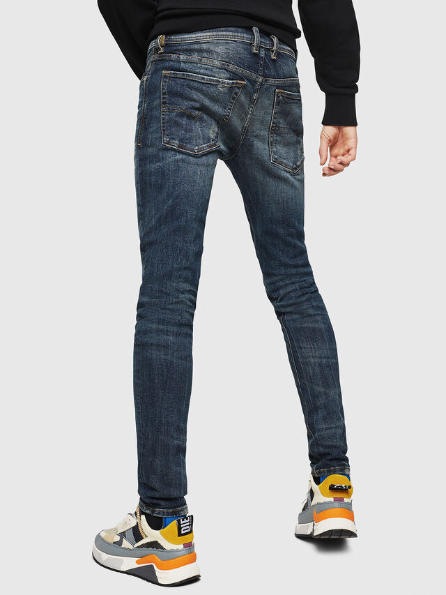 Diesel - Sleenker 069GC, Dark Blue - Jeans - Image 2